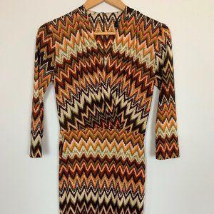 Single Los Angeles Womens Multicolor Wrap Dress